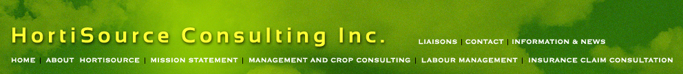 Crop Management and Crop Consulting Company in the Greenhouse Industry